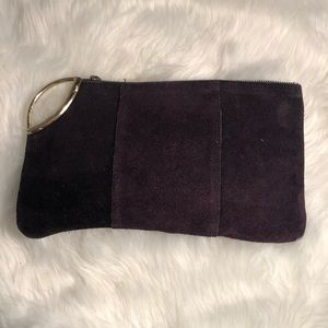4 for $35 Purple Suede leather clutch